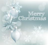 Christmas snowflake and decoration background Stock Illustration