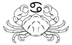 cancer zodiac horoscope astrology sign - stock illustration