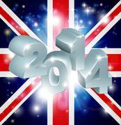 2014 union jack flag Stock Illustration