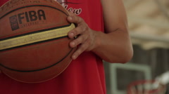 Holding a Ball basketball Stock Footage