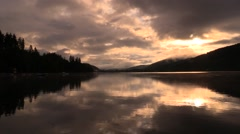 Time lapse titisee lake at sunrise Stock Footage