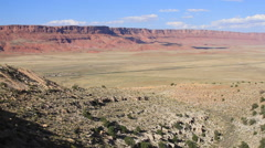 A pan of the Vermillion Cliffs Stock Footage