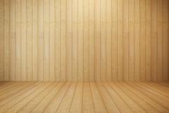 empty wooden room - stock illustration
