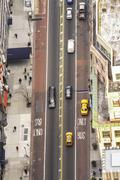 Aerial view of street in new york city, usa Kuvituskuvat
