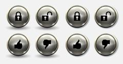 Lock and unlock buttons thumb Piirros