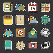 application icons - stock illustration