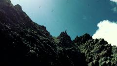A Rocky Bird Island in Ireland, known as Little Skellig Stock Footage