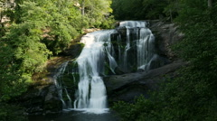 Time Lapse of Waterfall on Beautiful Bald River Stock Footage