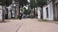 Cemetery in Recoleta Stock Footage