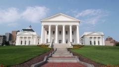 The Virginia State Capitol Stock Footage