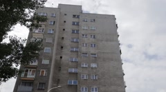 A tower-block of council flats Stock Footage