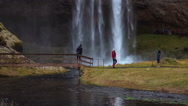 Stock Video Footage of Seljalandsfoss waterfall in southern Iceland.
