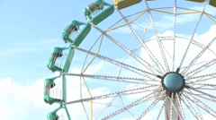 Big Wheel ride Stock Footage