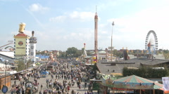 Oktoberfest scenery Stock Footage