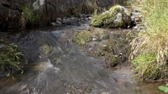 Nature Background Cool Clear Tranquil Mountain Stream Water Over Rocks Stock Footage