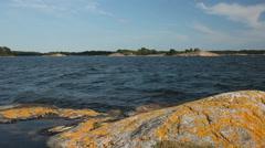 Swedish archipelago, Baltic sea Stock Footage