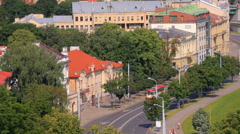 View of Vilnius from above. The capital city of Lithuania. Stock Footage