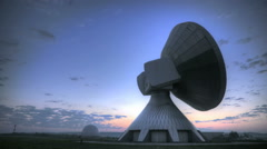 Time lapse sunrise over Satellite Station Stock Footage