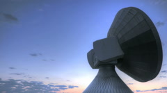 Time lapse sunrise over Satellite Station - stock footage