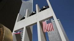 John Thomas Bell Wall in Dallas Stock Footage
