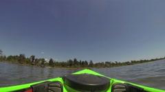 POV Paddling a kayak Stock Footage
