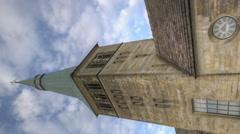 Vertical Timelapse Church of St. Nikolas in Hameln, Germany Stock Footage