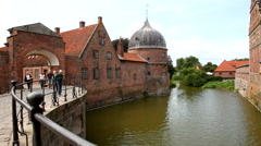 A part of Frederiksborg Castle  Stock Footage