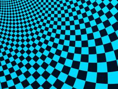 Abstract fractal background with curved square checkers Stock Illustration