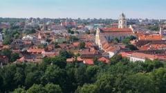 Palace of the Grand Dukes of Lithuania, Church of St. Johns Stock Footage