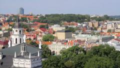 View of Palace of the Grand Dukes of Lithuania from the hill of Gediminas' Tower Stock Footage