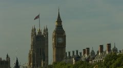 Big Ben and union jack flag MS static 01 4K version - stock footage