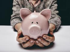 Stock Photo of save money for old age