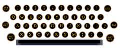 typewriter key layout - stock illustration
