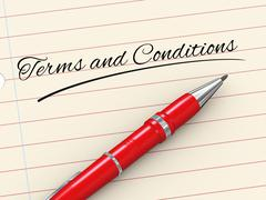3d pen on paper - terms and conditions Stock Illustration