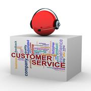 3d customer help and support - stock illustration