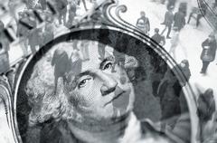 Dollar trading Stock Illustration
