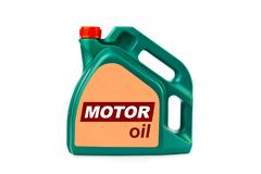 Plastic canister for motor oil Stock Photos