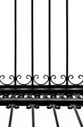 Detail of decorative wrought iron fence Stock Photos