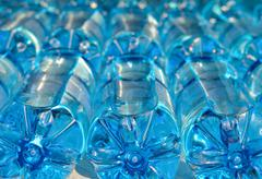 Bottles with carbonated water Stock Photos