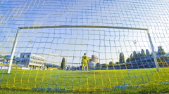 Ukraine Premier League Game between Olimpic Donetsk and Zorya Luhansk - stock footage