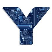 """letter """"y"""" from technology's stylized alphabet - stock illustration"""