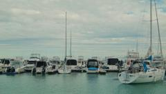 Boats Moored in a Marina Time Lapse Stock Footage