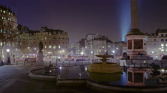 Panning, time-lapse of Trafalgar Square / Charring Cross Stock Footage