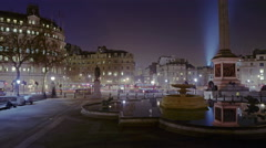 Static, time-lapse of Trafalgar Square / Charring Cross Stock Footage