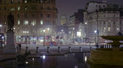 Zoom-out, time-lapse of Trafalgar Square / Charring Cross Stock Footage