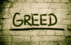 Greed concept Stock Illustration