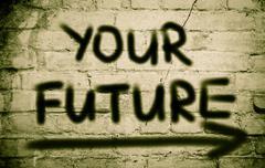 Your future concept Stock Illustration