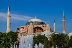 Stock Photo of dome and minarets of hagia sophia