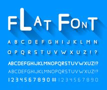 Flat font - stock illustration