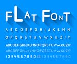 Stock Illustration of Flat font